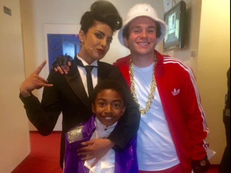 Priyanka was joined by Troy Gentile and Miles Brown for her dance performance.