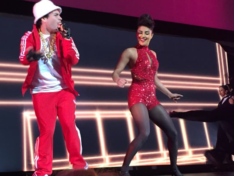 Priyanka Chopra was showcased as a triple threat in a dance number set to Bruno Mars' Uptown Funk during ABC Upfront, which then turned into a tribute to Prince.