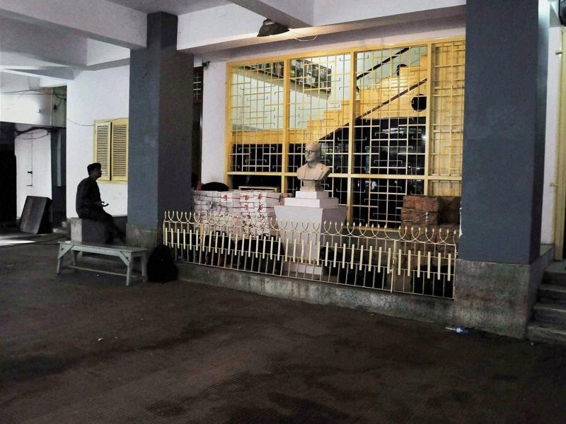 CPI(M) State headquarter wears a deserted look after the party's defeat in West Bengal Assembly elections. (PTI)