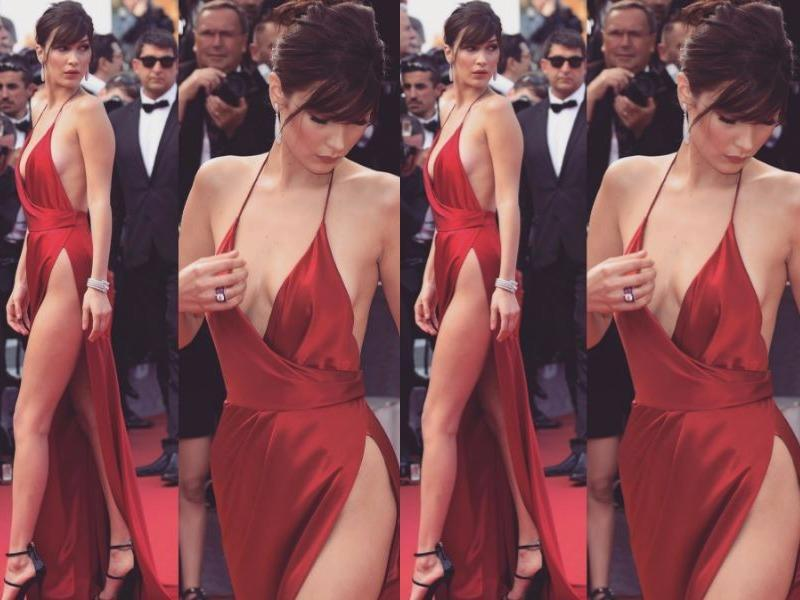 Before her dress flub, Bella had been totally slaying it on the Cannes red carpet. Proof right here.  (Instagram)
