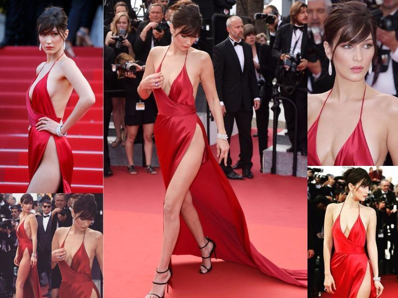 So, what do you think of Bella's dress? Do you think she should've expected a wardrobe malfunction to happen with that slit?  (Instagram)