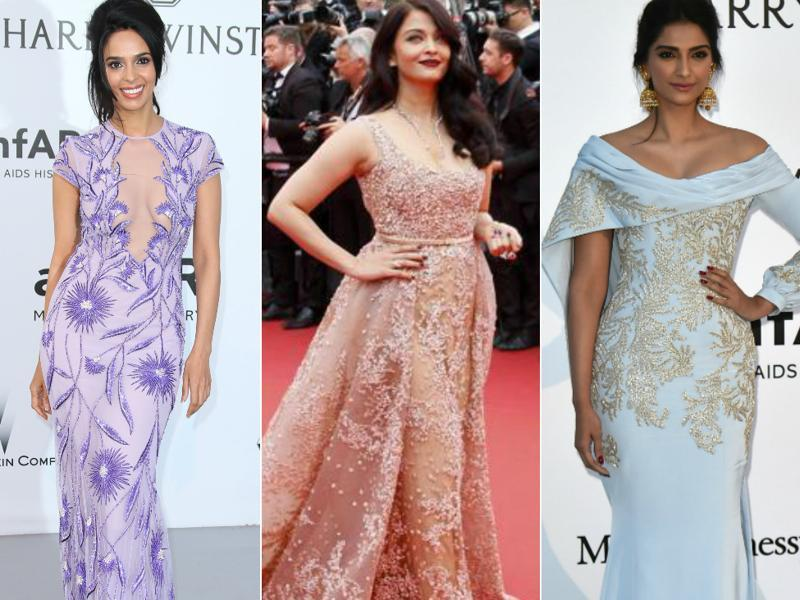 Among Bollywood celebrities, Aishwarya Rai Bachchan, Sonam Kapoor, and Mallika Sherawat  have had the most-talked-about appearances at Cannes Film Festival this year. We bring to you glimpses of how they fared at the red carpet and beyond it at the French Riviera.  (Agencies)