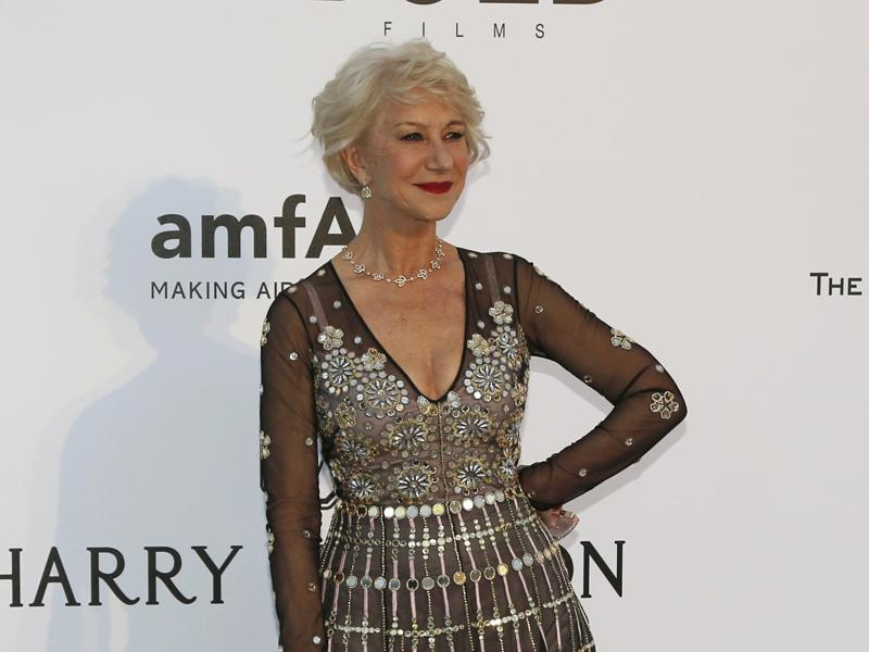 British actor Helen Mirren poses for the cameras. (REUTERS)