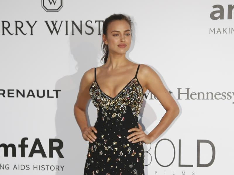 Model Irina Shayk poses during a photocall. (REUTERS)
