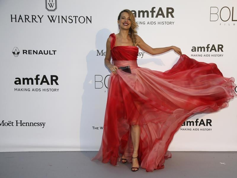 Model Petra Nemcova poses during a photocall. (REUTERS)