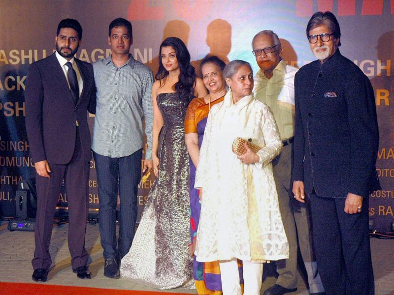 Aishwarya's parents also joined her at her film's screening. (PTI )