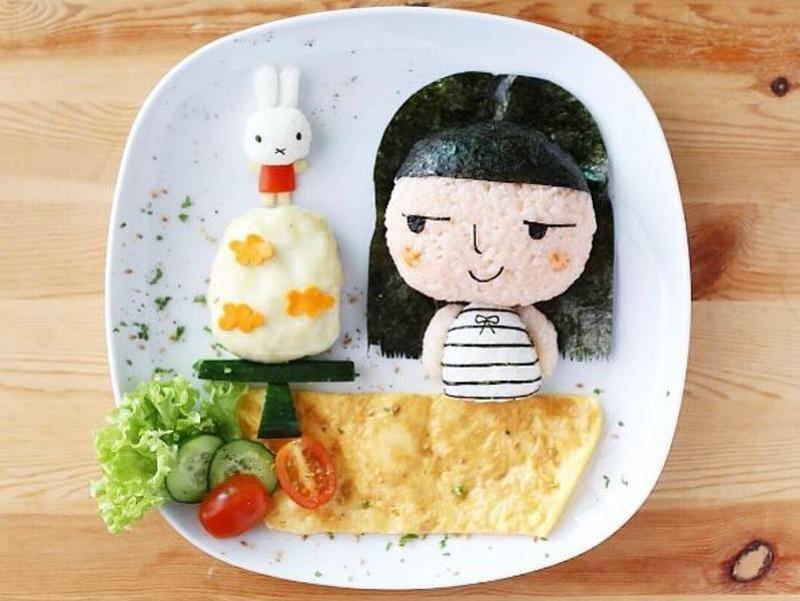 A mother's present to her daughter on her birthday. Made with rice and veggies. (InstagRam/leesamantha)