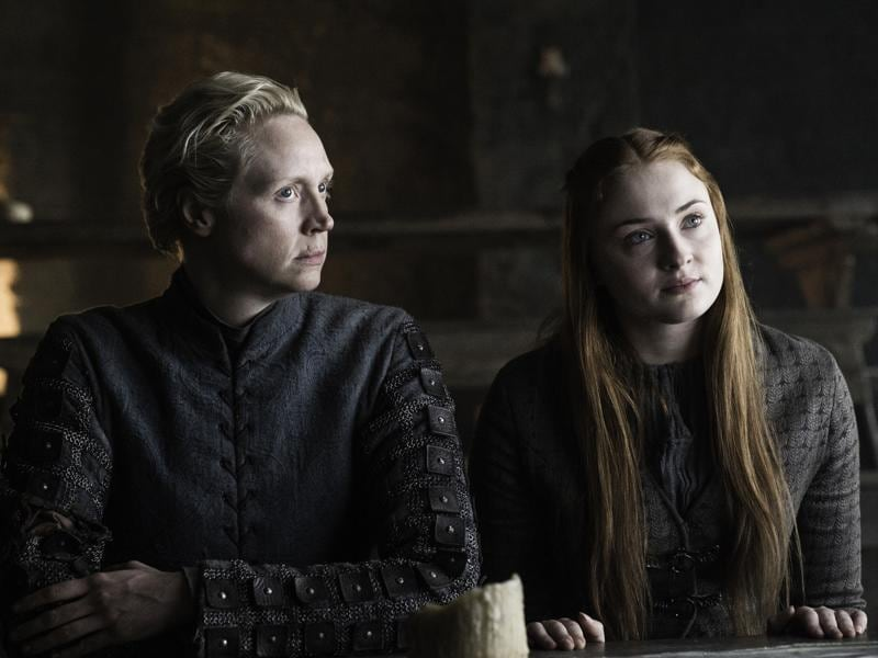 Brienne and Sansa might finally tell Jon about Arya. That'll be a good scene to watch. (HBO)