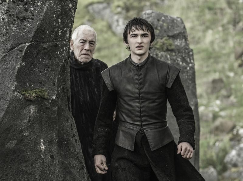 What is cooking here? Three-Eyed-Raven is showing stuff to Bran. (HBO)