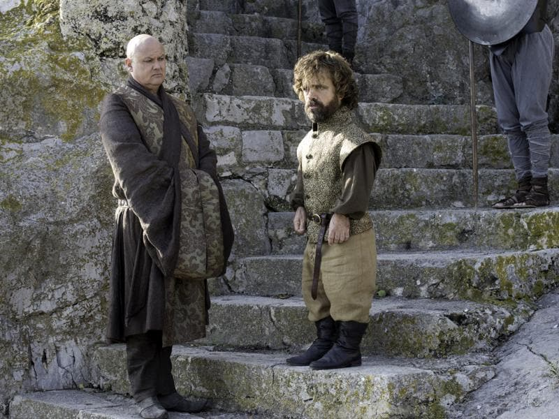 Hopefully Varys is supporting Tyrion's plan to work with the slave masters. (HBO)