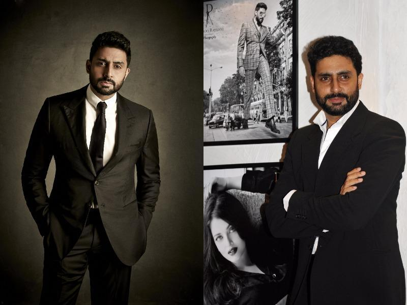 Abhishek Bachchan looks super spiffy in classic monochrome and is known for his crisp tuxedos. (AFP)