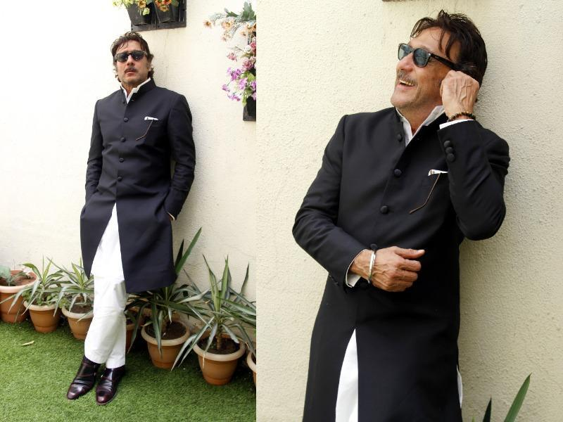 Style Legend Jackie Shroff's cool and calm demeanour goes perfectly with his fearless style sense. (Shivam Saxena/ HT Photo)