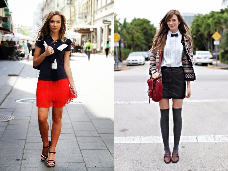 To make a schoolgirl look appropriate for a modern woman, be sure to stay away from entire outfits that are reminiscent of uniforms.  (Pinterest)