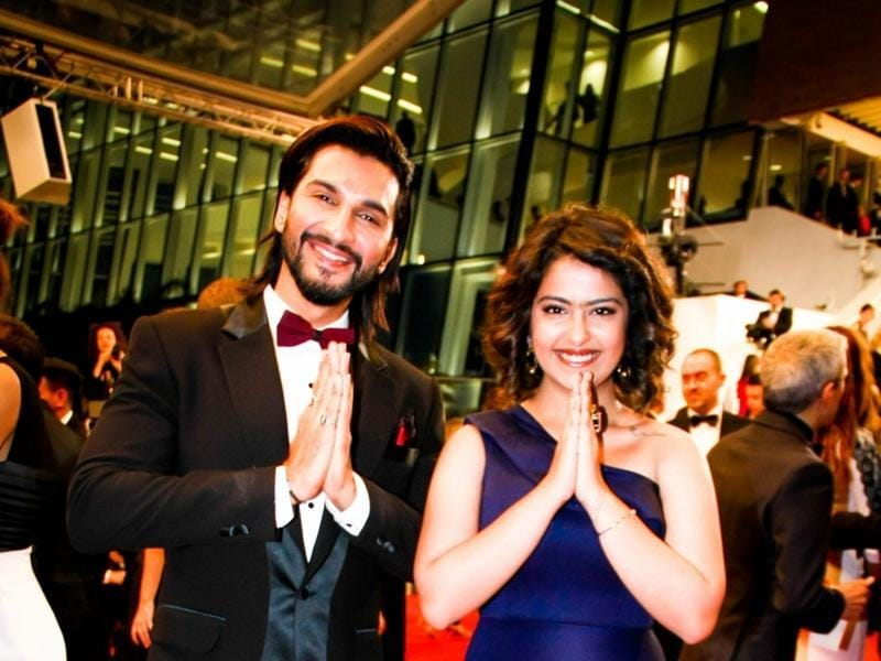 Actors Manish Raisinghani and Avika Gor at 69th Cannes Film Festival in France.  (IANS)