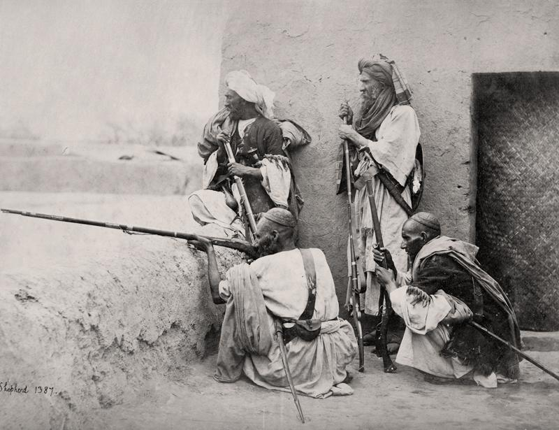 Afghanistan, Group of Affreedies from the Khyber Pass; Charles Shepherd, c. 1860. (Courtesy MAP/Tasveer)