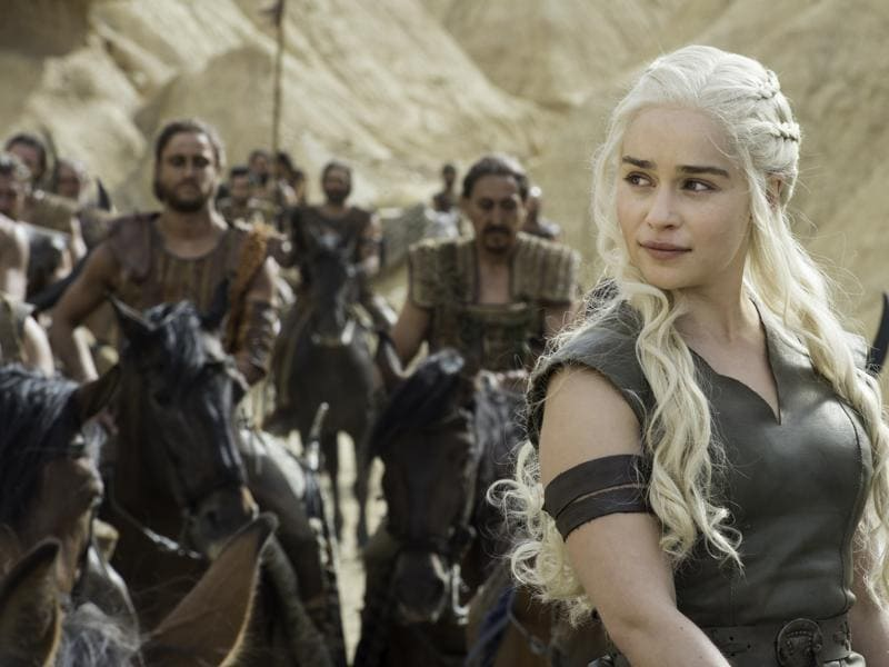 Emilia Clarke as Daenerys Targaryen in Game of Thrones Season 6 Episode 6 Blood of My Blood. (HBO)