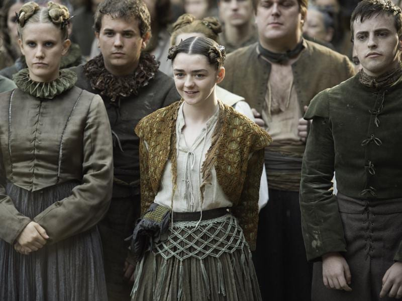 Arya Stark is back for more theatre in Game of Thrones Season 6 Episode 6 Blood of My Blood. (HBO)