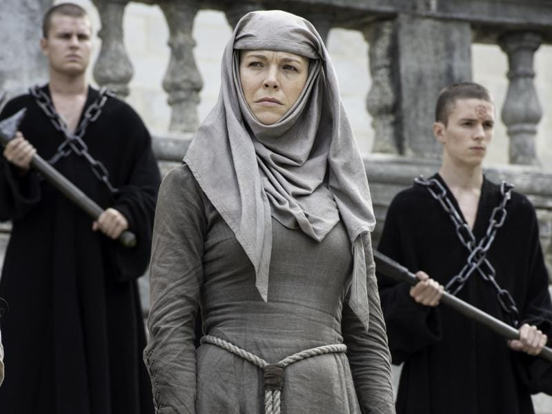 Septa Unella returns to shame Margaery Tyrell in Game of Thrones Season 6 Episode 6 Blood of My Blood. (HBO)