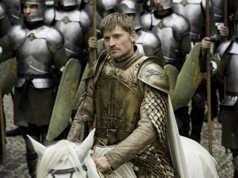 Jaime Lannister strides into town in Game of Thrones Season 6 Episode 6 Blood of My Blood. (HBO)