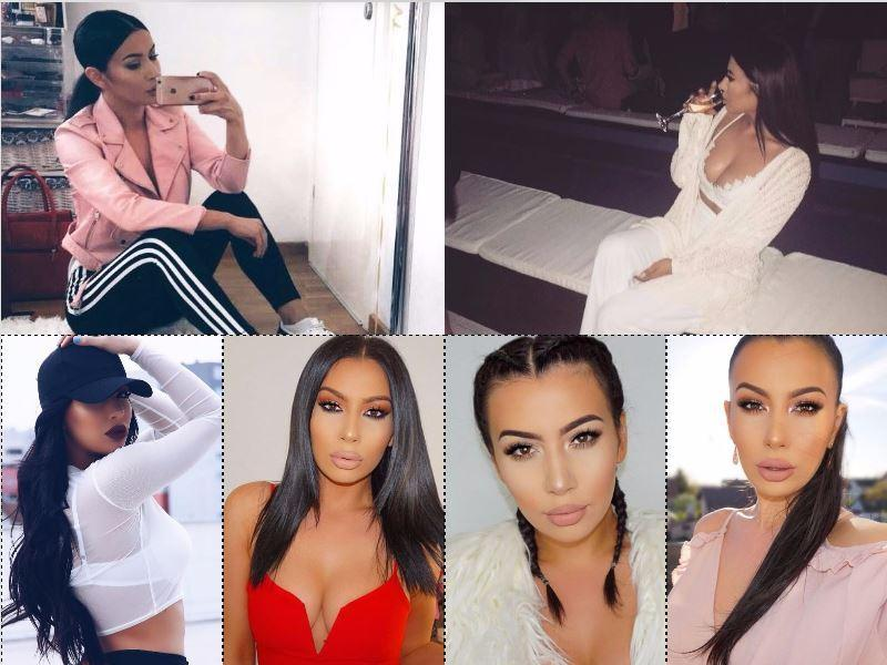 Is this the best Kim Kardashian lookalike ever? We think so.  (Instagram)