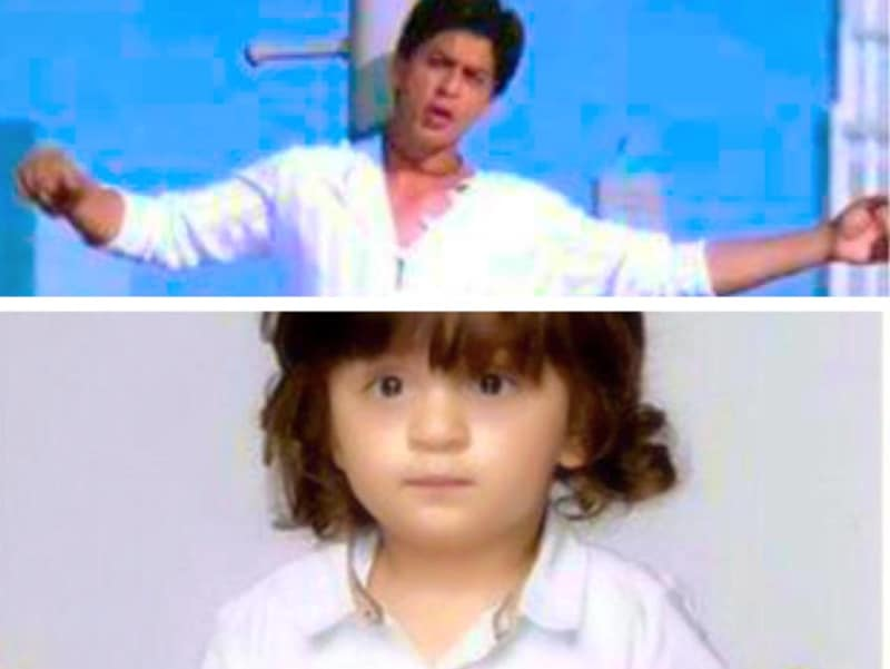 Shah Rukh Khan never tires of posting collages with his son. Check this one out. (Twitter)