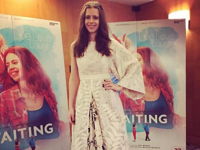 Kalki Koechlin promotes her latest film Waiting (Instagram)
