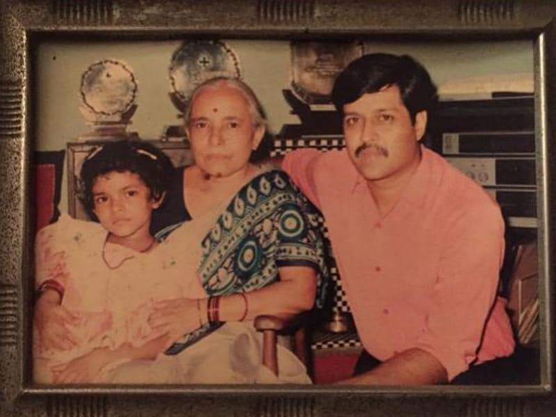 "Priyanka Chopra shared a picture from her childhood on Instagram on Saturday and wrote, ""Happy 94th bday Nani. So happy to be home for it. Found this old pic..Dunno y we all look so pissed off .. But I Think my mom was forcing us to take the picture . #missedhome #throwback"" (iNSTagram)"