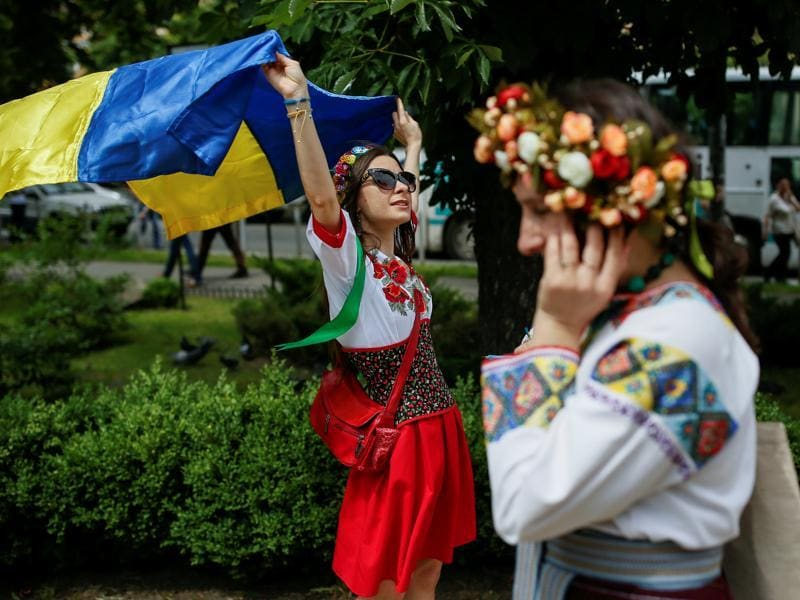 Embroidery has a rich history in Ukraine and has for long appeared in Ukrainian folk dress. (REUTERS)
