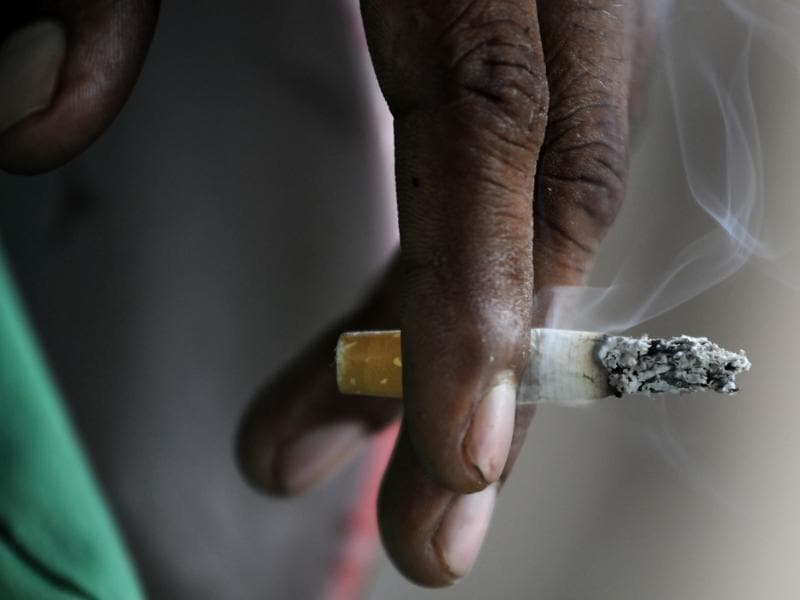 In India, smoking causes about 30% of all cancer deaths (including 90% of lung cancer deaths), 17% of heart disease deaths, and at least 80% of deaths from bronchitis and emphysema. (Sunil Ghosh/HT )