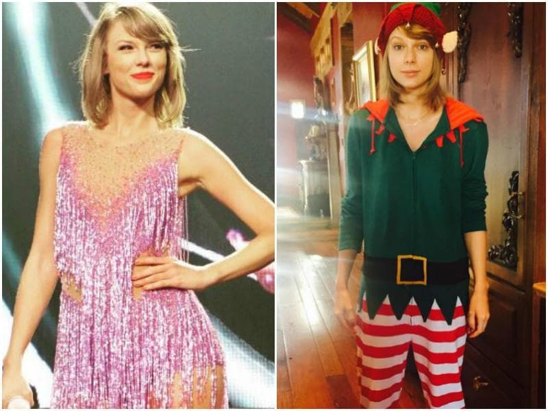 The amazing Taylor Swift has been known to not care at all. The singer put on an elf costume without any makeup for this pic on her Instagram page.