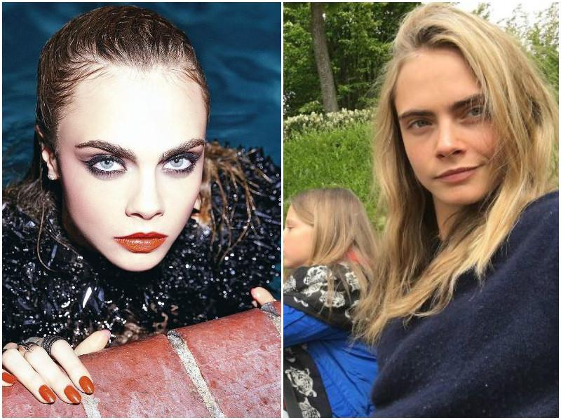 Supermodel, and now a Hollywood actor, Cara Delevigne treats her fans with makeup-free photos quite often.