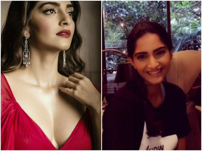 India's own fashion queen Sonam Kapoor looks like a sweet, pretty girl next door when she is not in her usual glamourous avatar.