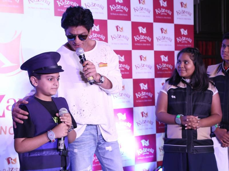 Shah Rukh Khan during the launch of KidZania in Noida. (IANS)