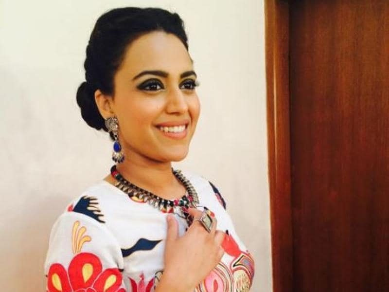 Swara Bhaskar strikes a pose before a promotional event. (Instagram)