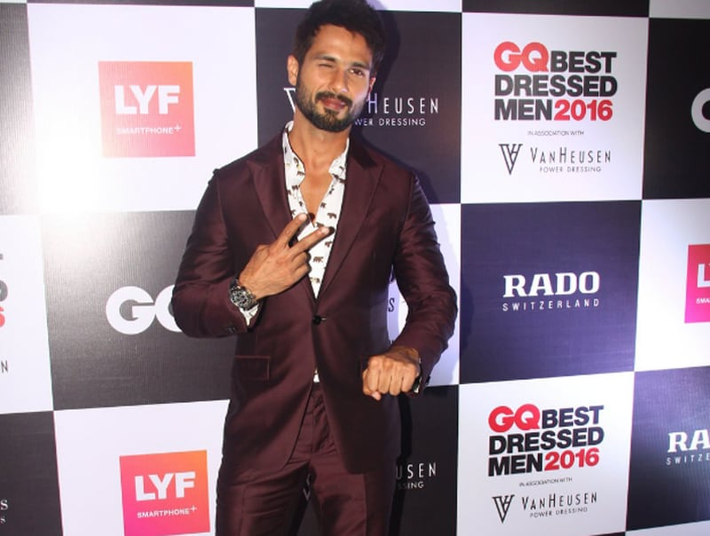 Actor Shahid Kapoor at the GQ best dressed bash.