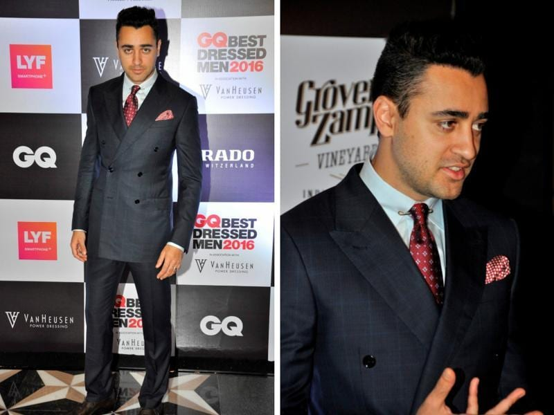 What are the best dressed men of Bollywood wearing? Imran Khan has the perfect, polished answer at GQ awards in Mumbai.