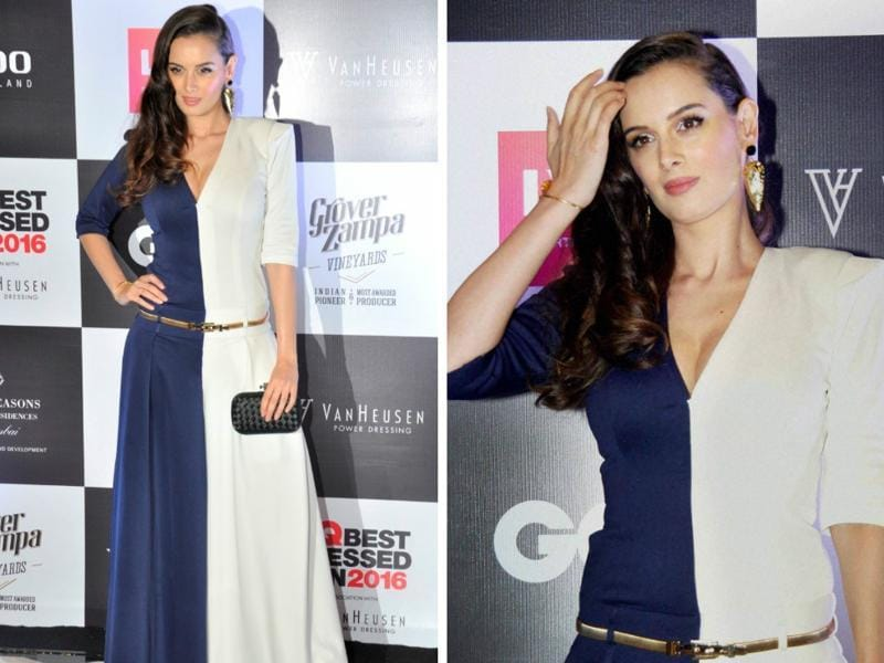 Actress Evelyn Sharma during GQ Best Dressed Men 2016 Awards in Mumbai. (IANS)