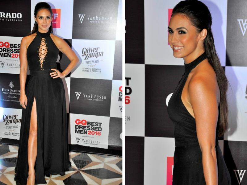Bollywood actress Lauren Gottlieb during GQ Best Dressed Men 2016 Awards in Mumbai on Thursday.