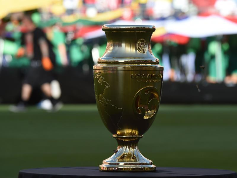 Picture of the trophy of the Copa America Centenario football tournament, taken before the opening match between the USA and Colombia, in Santa Clara, California, US. (AFP Photo)