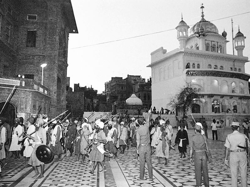 A fountainhead of Sikh fundamentalism, the Damdami Taksal was then headed by Jarnail Singh Bhindranwale, a fiery Sikh leader. Damdami Taksal was the nerve centre of anti-government extremism that led to the 1984 Operation Bluestar.  (SN Sinha/HT File Photo )