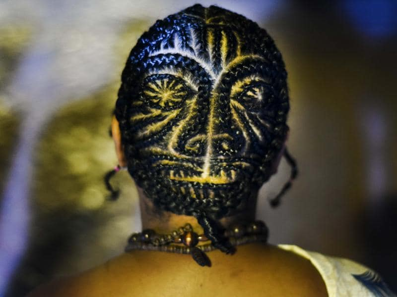 Though this particular hairstyle contest is only in its 12th year, the tradition of braiding among Afro Colombians is centuries old in Colombia and in Africa it is much older.  (AFP)