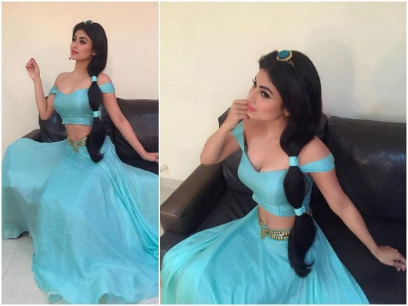Mouni Roy of Naagin dressed up as Princess Jasmine from Aladdin for an episode of So You Think You Can Dance.