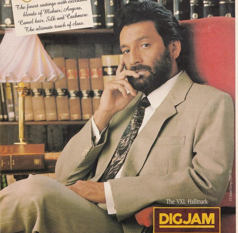 Shekhar Kapur in a suting ad. Well into the '90s, nawabs, cricketers and actors modelled for suiting. It's a small segment now, what with the advent of international designer and high-street brands, and now, online retail.