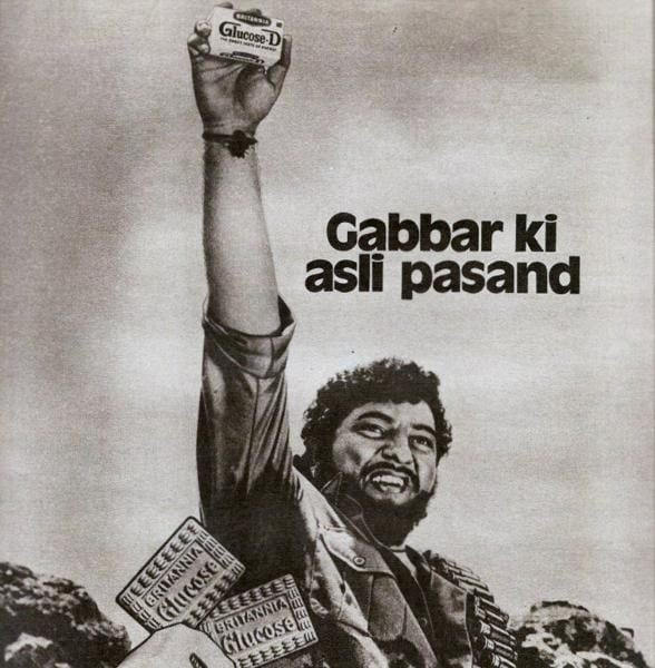 To take on Parle-G glucose busciuts, arch-rival Britannia looked to one the most famous Bollywood villains: Gabbar Singh.