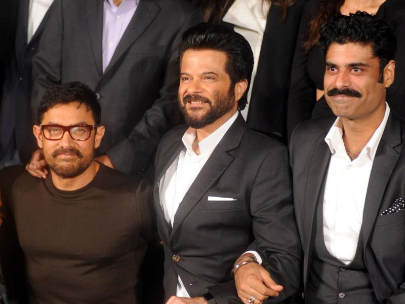 Aamir Khan, Anil Kapoor and Sikander Kher pose during the trailer launch of 24 Season 2. Anil also added that Aamir inspires him. Like Aamir, Anil also completely focused on his TV show. (AFP)