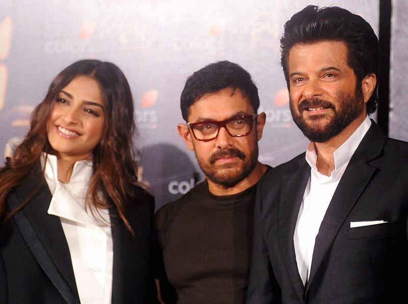 Bollywood star Anil Kapoor will save Mumbai again in the second season of 24. To launch the show, Aamir Khan and Sonam Kapoor joined the actor. (PTI)