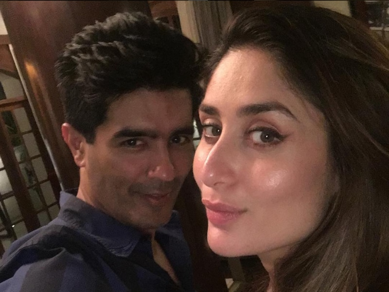 Kareena Kapoor Khan and Manish Malhotra put the pose on for a selfie.