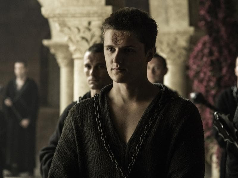 Why are they showing Lancel's face? Doesn't bode well for him.  (HBO)