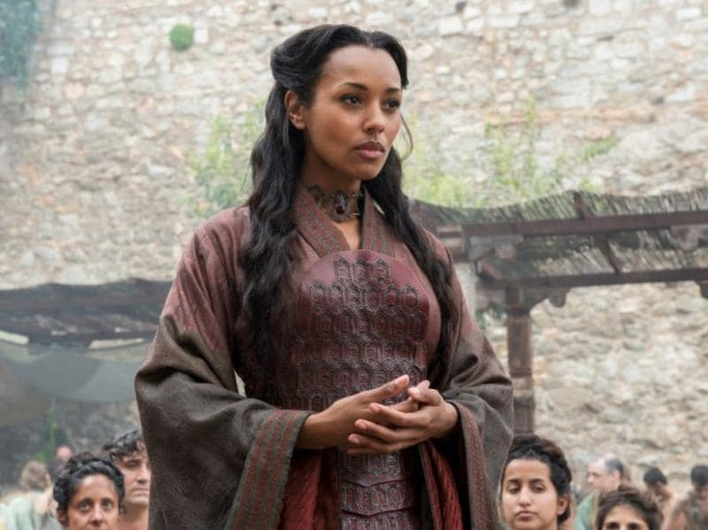 And finally, we have another red woman. Whatever happened to the one hired by Varys and Tyrion? Never saw her again. (HBO)
