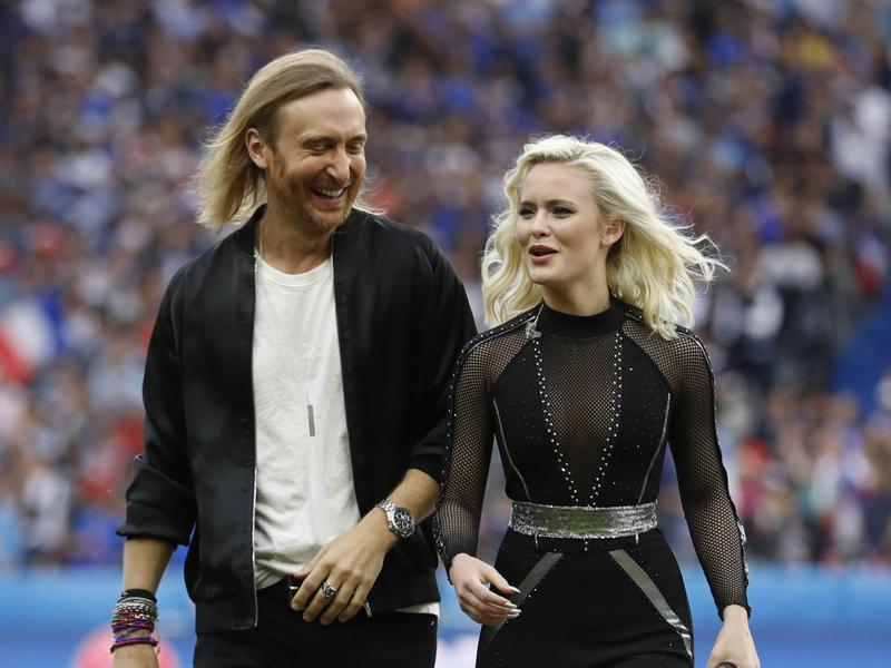 David Guetta and Zara Larsson after performing in the opening ceremony. (REUTERS)